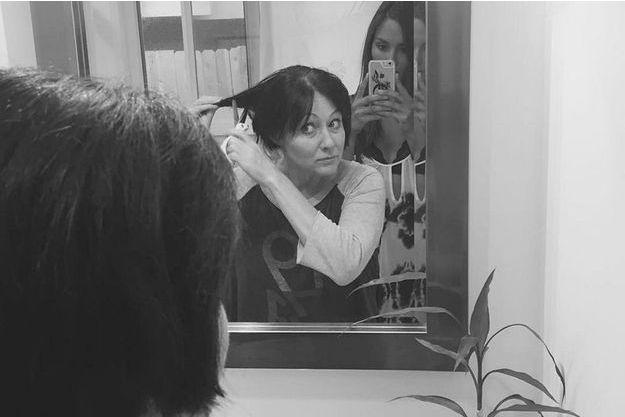 Shannen Doherty se rase le crâne, juin 2016.