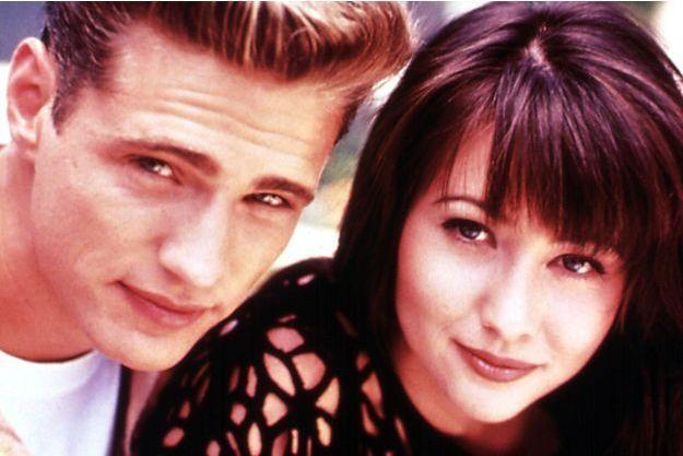 """Shannen et Jason au temps de la série """"Beverly Hills""""."""