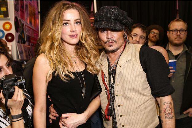 Johnny Depp et Amber Heard, en janvier 2016.