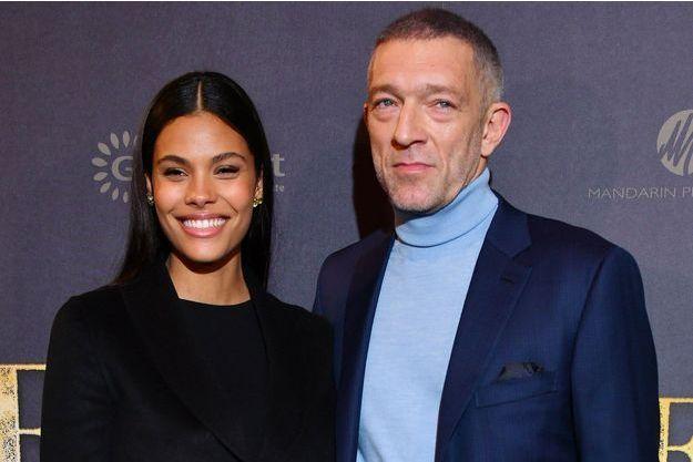 Vincent Cassel et Tina Kunakey, décembre 2018