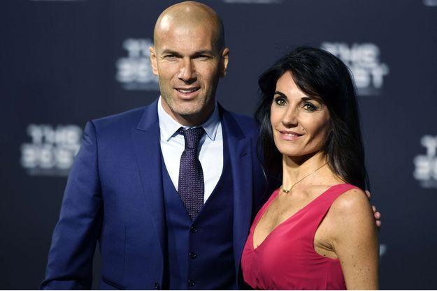 Zinédine Zidane et Véronique, le 9 janvier 2017.