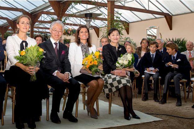 La princesse Claire de Belgique et les princes Aymeric et Nicolas à la Hulpe, le 16 septembre 2017