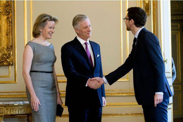 La reine Mathilde de Belgique et le roi des Belges Philippe à Bruxelles, le 22 novembre 2018
