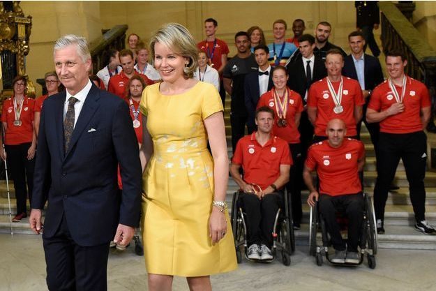 La reine Mathilde de Belgique et le roi des Belges Philippe à Bruxelles, le 27 septembre 2018
