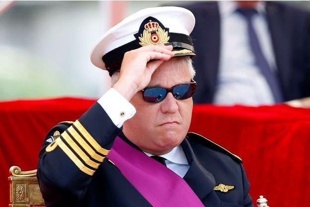Le prince Laurent de Belgique, lors de la parade militaire de la fête nationale le 21 juillet 2016.