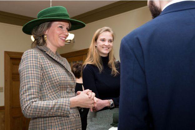 La reine des Belges Mathilde et la princesse Luisa Maria de Belgique à Montréal, le 16 mars 2018