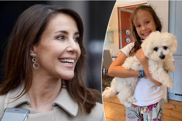 La princesse Marie de Danemark le 20 mars 2019. La princesse Athena avec Cerise en août 2019
