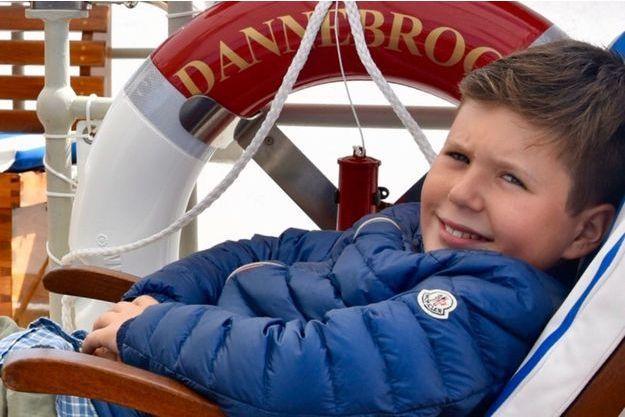 Le prince Christian de Danemark. Photo diffusée le 15 octobre 2017 pour ses 12 ans