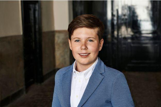 Portrait du prince Christian de Danemark diffusé pour ses 13 ans, le 15 octobre 2018