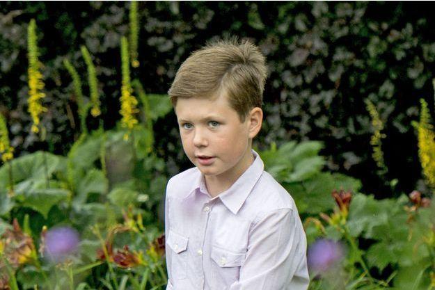 Le prince Christian du Danemark, fils du prince héritier Frederik et de son épouse la princesse Mary, en juillet 2015.