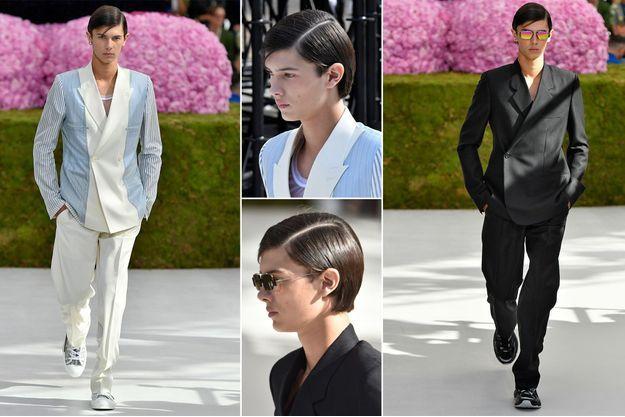 Le prince Nikolai de Danemark défile pour Dior Homme à Paris, le 23 juin 2018