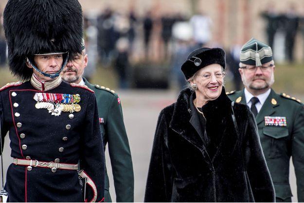 La reine Margrethe II de Danemark à Copenhague, le 14 mars 2018