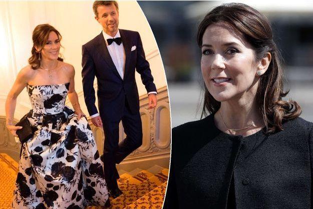 La princesse Mary et le prince Frederik de Danemark le 6 septembre 2017. A gauche, la princesse Mary de Danemark le 20 juin 2017