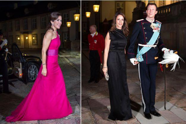 Les princesses Mary et Marie et le prince Joachim de Danemark à Fredensborg, le 26 septembre 2017