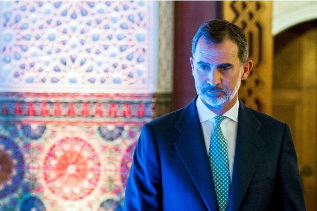 Le roi Felipe VI d'Espagne à Séville le 16 juillet 2018, deux jours après son opération
