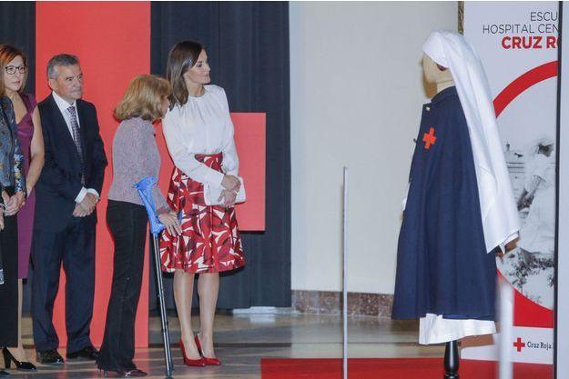 La reine Letizia d'Espagne à Madrid, le 20 novembre 2018