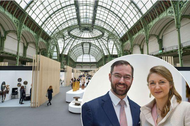 La princesse Stéphanie et le prince Guillaume au Grand Palais à Paris, le 3 mai 2017