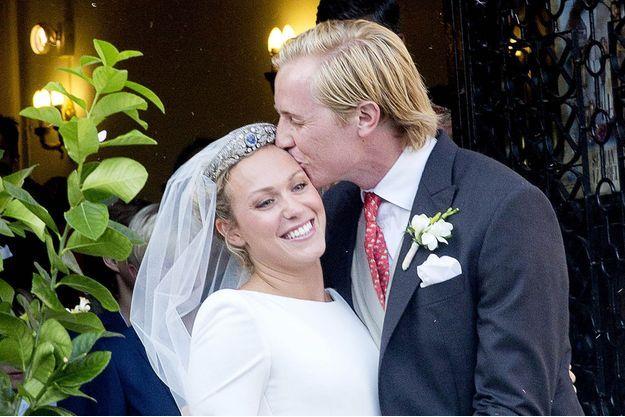 La princesse Marie-Gabrielle de Nassau et Antonius Willms le 2 septembre 2017, jour de leur mariage religieux à Marbella