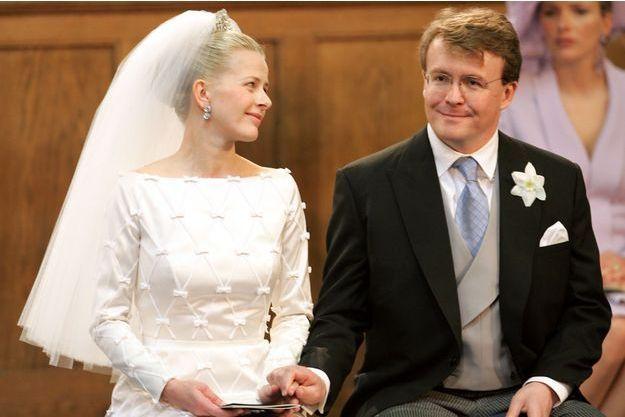 Le prince Friso et Mabel, le jour de leur mariage, le 24 avril 2004.