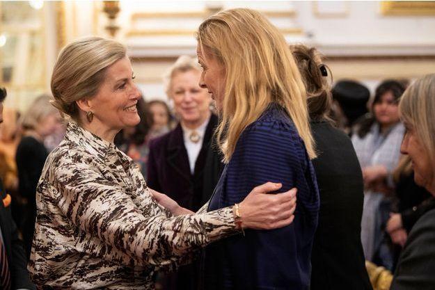 La comtesse Sophie de Wessex accueille la princesse Mabel des Pays-Bas à Londres, le 8 mars 2019