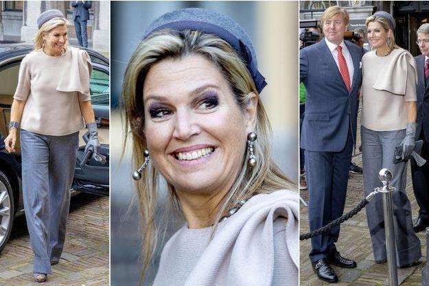 La reine Maxima et le roi Willem-Alexander des Pays-Bas à La Haye, le 31 octobre 2018