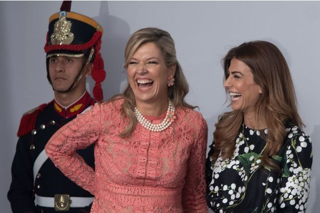 La reine Maxima des Pays-Bas avec Juliana Awada, la First Lady d'Argentine, à Buenos Aires, le 1er décembre 2018