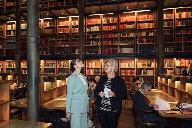 La princesse Victoria de Suède à la Bibliothèque royale à Stockholm, le 21 novembre 2018