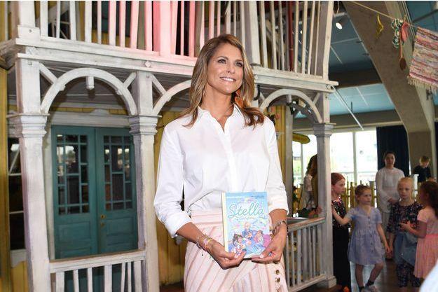 La princesse Madeleine de Suède lors du lancement de son livre pour enfants à Stockholm, le 4 juin 2019