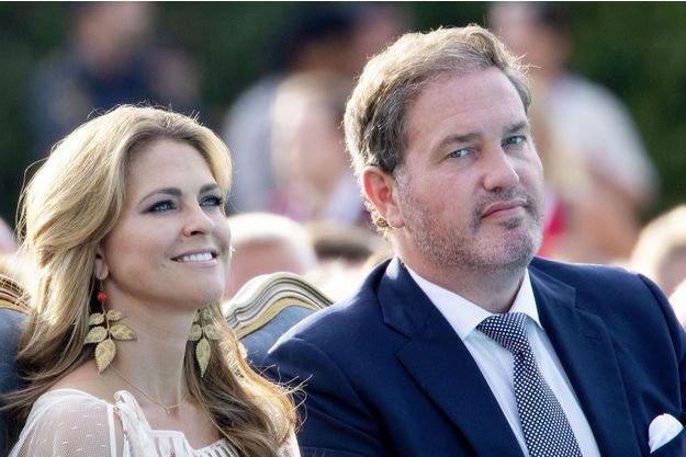 La princesse Madeleine de Suède et son mari Christopher O'Neill à Stockholm, le 14 juillet 2018