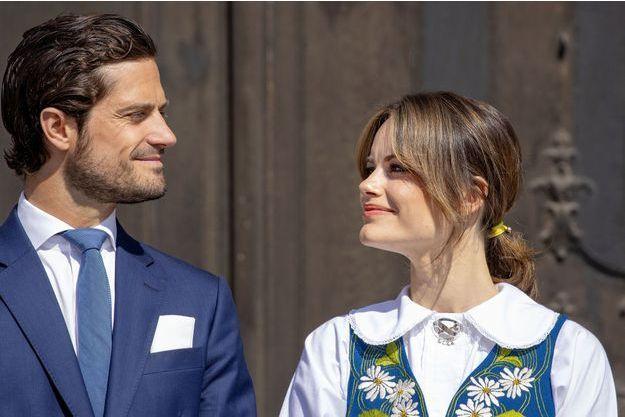 La princesse Sofia et le prince Carl Philip de Suède, le 6 juin 2019
