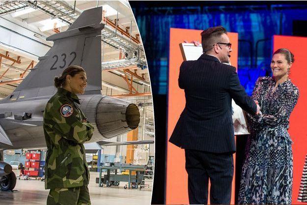 La princesse Victoria de Suède sur la base aérienne de Kallax et à Stockholm, le 27 mai 2019