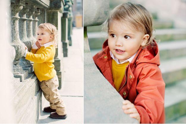 Le prince Alexander de Suède. Photos diffusées le 19 avril 2018 pour ses 2 ans