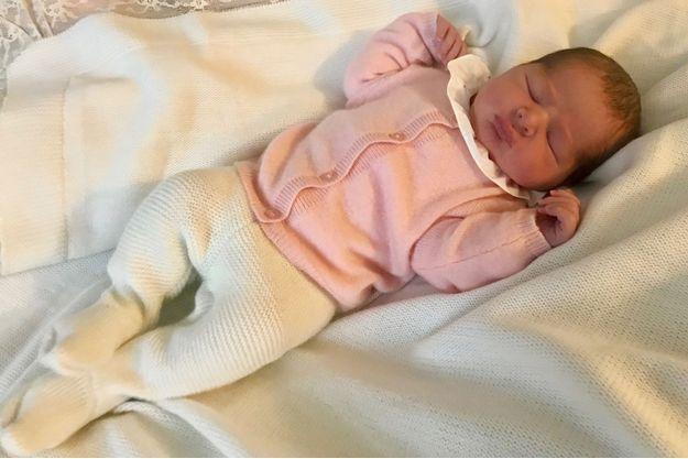 La princesse Adrienne de Suède, le jour de sa naissance, le 9 mars 2018