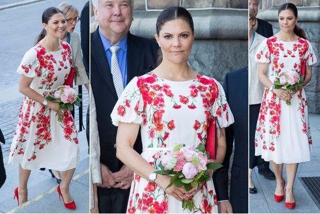 La princesse Victoria de Suède à Stockholm, le 14 mai 2018