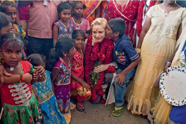 Charlène en Inde