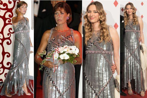 La princesse Caroline de Monaco le 27 juillet 2007 - Beatrice Borromeo-Casiraghi le 28 avril 2017