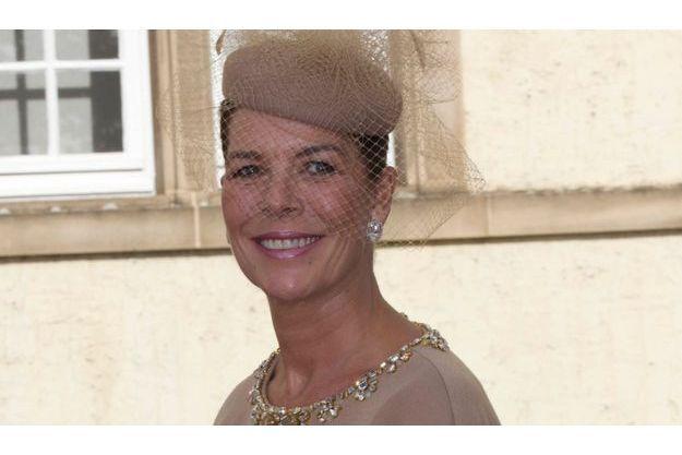 Caroline, le 20 octobre 2012, au mariage de Stéphanie et Guillaume de Luxembourg.