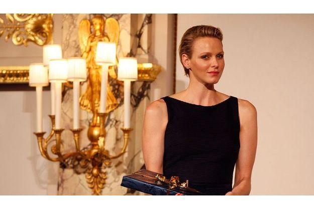 Le 19 juin, la princesse Charlène attend la cérémonie de la remise des diplômes de l'International School of Monaco.