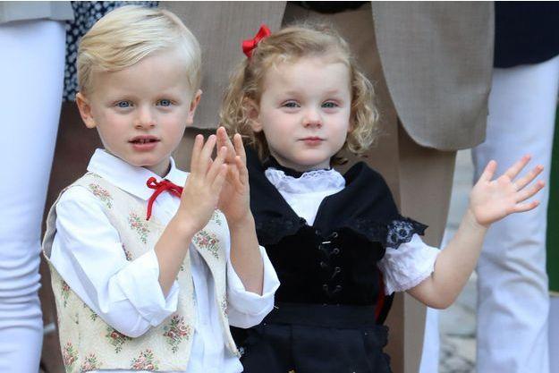 Le prince Jacques et la princesse Gabriella de Monaco à Monaco, le 31 août 2018