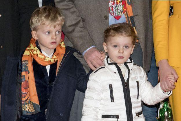 Le prince Jacques et la princesse Gabriella de Monaco à Monaco, le 20 janvier 2019