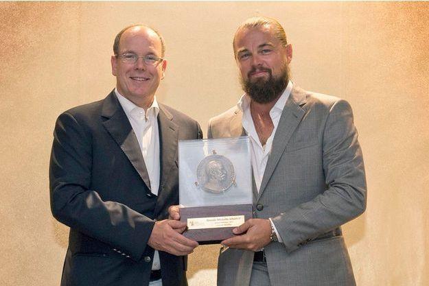 Leonardo DiCaprio a été récompensé par le prince Albert II de Monaco pour son engagement écologique.