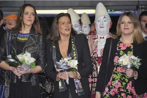 Pauline Ducruet, Stéphanie de Monaco et Camille Gottlieb au Festival International du Cirque de Monte-Carlo en 2014