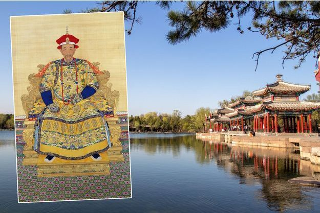 Portrait de l'empereur de Chine Kangxi (Musée du Palais à Pékin). Les Trois pavillons du Palais d'été de la dynastie Qing à Chengde en 2015