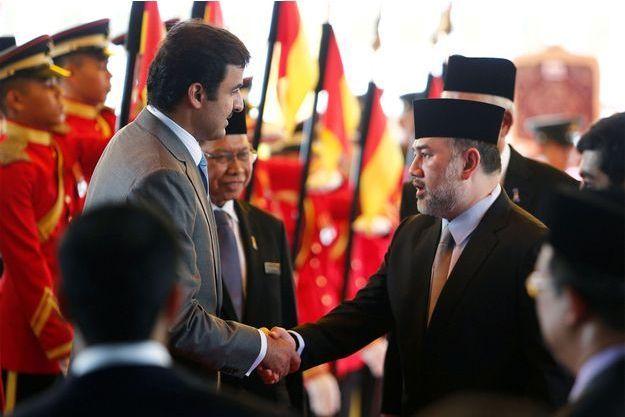 Le roi de Malaisie et l'émir du Qatar en 2017.