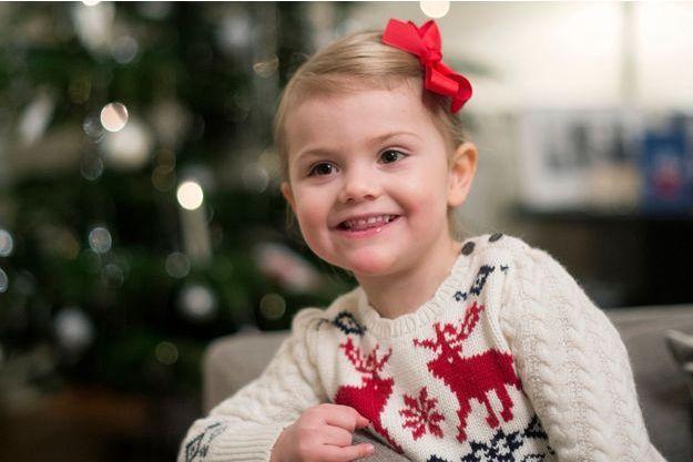 La princesse Estelle de Suède au château de Haga, le 15 décembre 2014