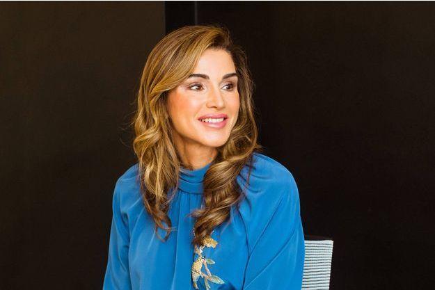 La reine Rania de Jordanie à Amman, le 29 août 2018