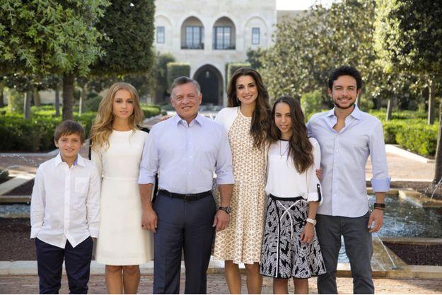 La famille royale de Jordanie, photo postée par la reine Rania de Jordanie sur son compte Twitter le 21 décembre 2015