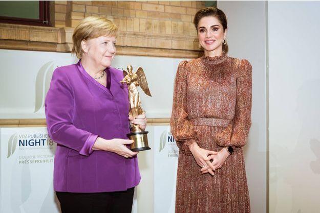 Angela Merkel et la reine Rania de Jordanie à Berlin, le 5 novembre 2018