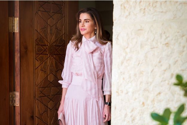 La reine Rania de Jordanie, le 17 octobre 2018