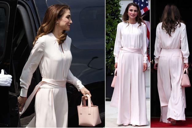 Le look de la reine Rania de Jordanie à Washington, le 25 juin 2018